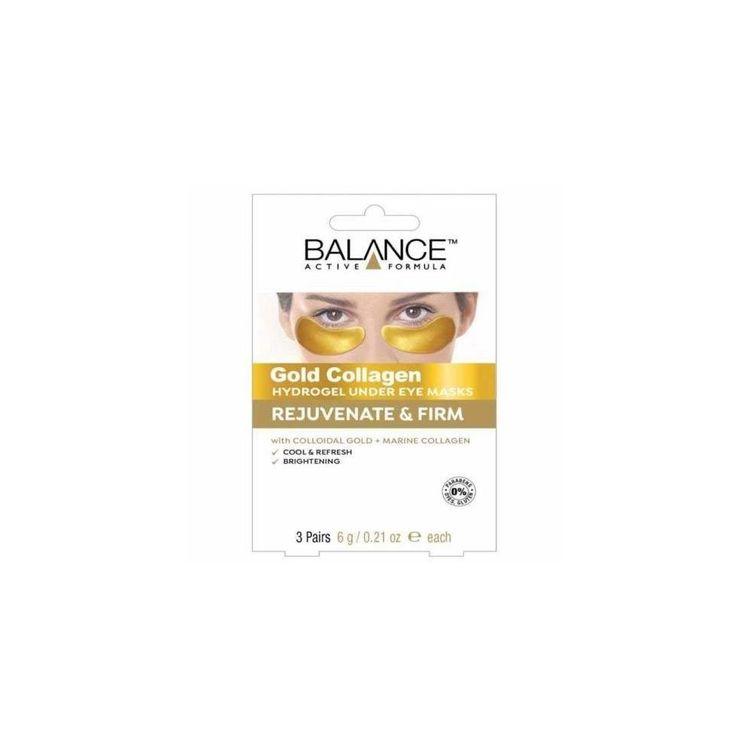 Balance Gold Collagen Eye Patches Hydrogel Under Eye Masks 3 Pairs Free Post