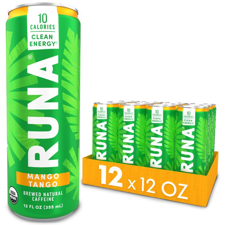 RUNA Energy Drink, Mango, 12oz Can (Pack of 12)