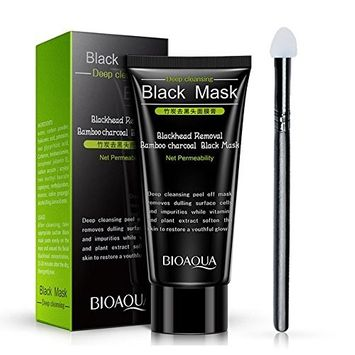 Blackhead Face Mask,Molie Charcoal Peel Off Mask Deep Cleansing Tearing Resist Oily Skin Strawberry Nose Paste T Zone Treatment Skin Care 60g