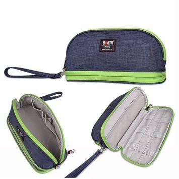 BUBM Men & Women Small Toiletry Handbag Cosmetic Case Capacity Portable Makeup Storage Bags Pouch Travel Kit Organizer