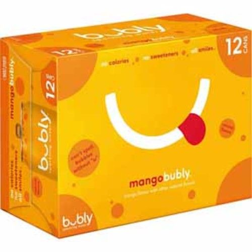 Bubly 12 oz Sparkling Water - Mango (12 Per Pack)