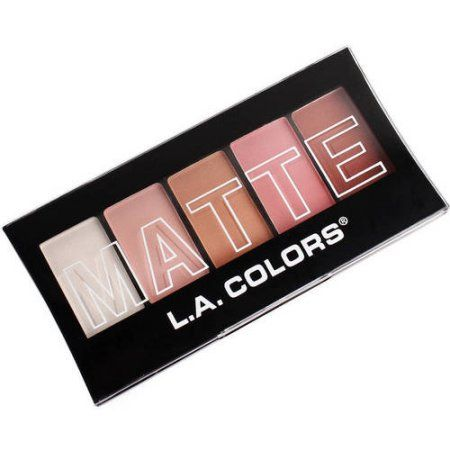 LA Colors Matte Eyeshadow, Pink Chiffon, 5 Ct