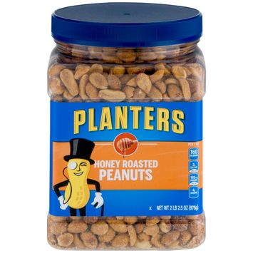 Planters Honey Roasted Peanuts, 2.16 lb Container