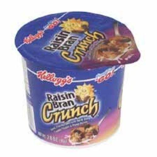Kellogg's 01474 Breakfast Cereal, Raisin Bran Crunch, Single-Serve 2.8oz Cup, 6/Box
