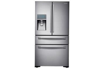 samsung 23 cu. ft. Counter Depth 4-Door Refrigerator with FlexZone Drawer in Stainless Steel