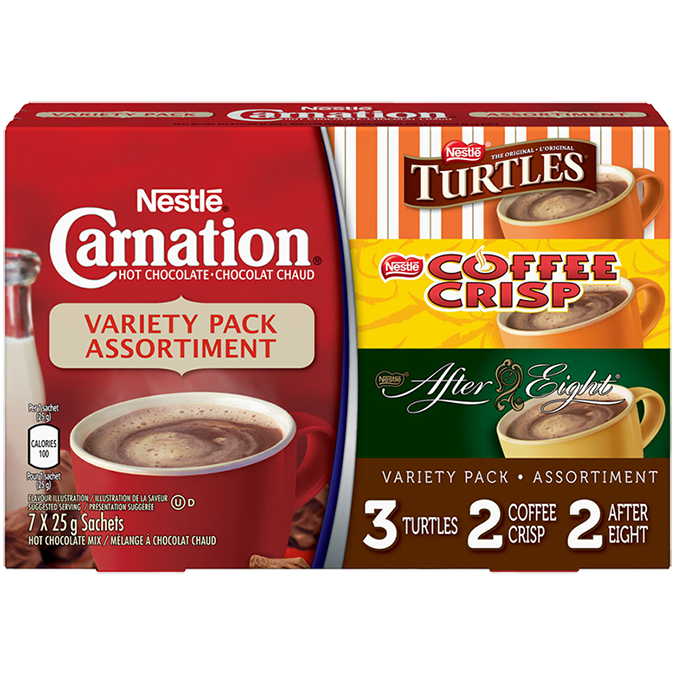 CARNATION Flavoured Hot Chocolate Variety Pack
