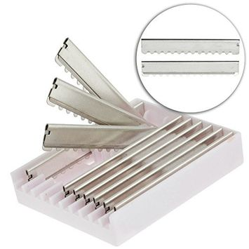 Set Kit Lot of 10pcs Professional Barbers Stainless Steel Replacement Replaceable Blades Compatible With Hair Thinning Razor for Hairstyling, Haircuts Layers Cutting Cuts Styling