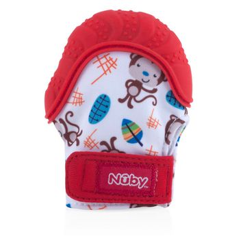 Nuby Teething Mitten with Hygienic Travel Bag