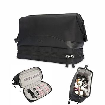 BUBM Toiletry Bag - Travel Kit Organizer Bag for Women Makeup & Men Grooming Cosmetic Case With Wall Hook Hanging