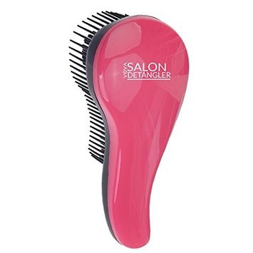 Amazing Hair Dressers Salon Quality Detangling / Detangler / Hairdos Styling Glide Through Anti Tangles Brush In Rose And Black Colors By VAGA
