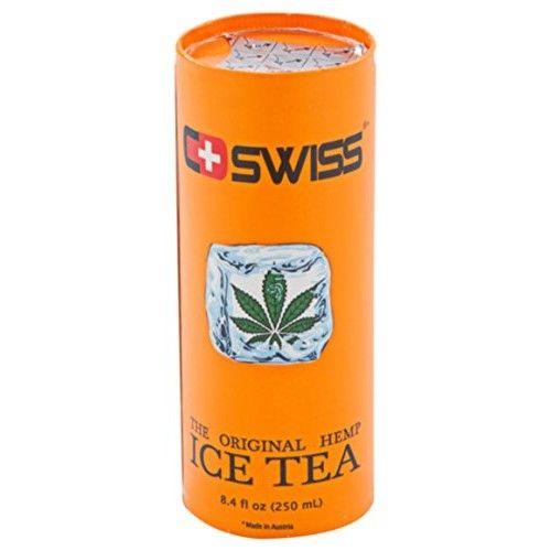 Premium 8.4 Fl. Oz. C+Swiss Hemp-Infused Black Iced Tea –100% Pure & Natural Hemp Tea Drink W/ Non-Gmo Beet Sugar –Unique, Eco-Friendly, Award-Winning CartoCan Packaging W/ Aseptic Filling