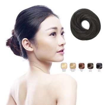 Buy 2 Hollywood Hair Classic Buns and get 1 Free Fringe with Bangs - Bold Black