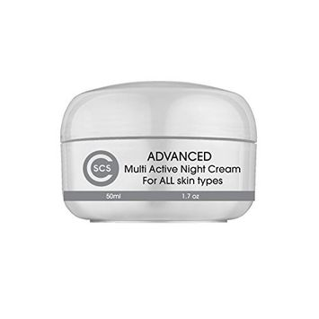 CSCS Multi Active Retinol Night Cream – Best Anti-Aging Cream for Face, Eyes and Body - Reduces Fine Lines and Wrinkles - With Natural Retinol, Hyaluronic...