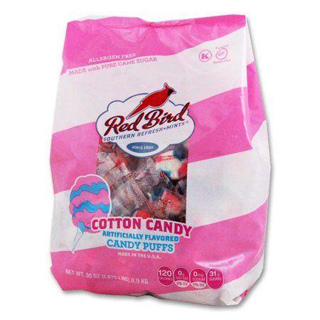 Red Bird Cotton Candy Puffs 30 oz bag