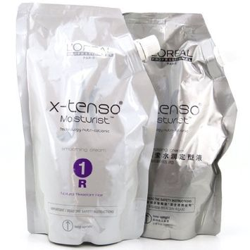 L'Oreal Paris X-tenso Moisturist Hair Straightener Set for Natural Resistant Hair 400 + 400 milliliter