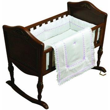 Baby Doll Bedding Royal Classic Cradle Bedding Set, Lavender