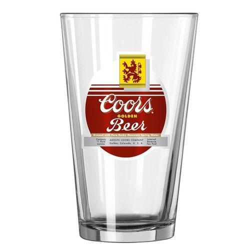 Coors Retro Pint Glass
