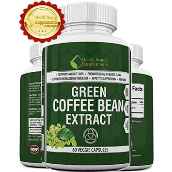   HB&S Solutions Green Coffee Bean Extract   Fast Acting Weight Loss for Men & Women   800mg PER Cap   1600mg Daily   Vegan Friendly   Gluten Free   Stimulant Free Fat Burner  800   60 Capsules: Health & Personal Care