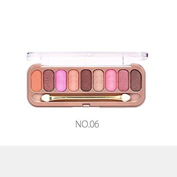 O.TWO.O 9 Color Eyeshadow with Brush Palette Makeup Eye shadow Palette Pigments Matte Shimmer Glitter