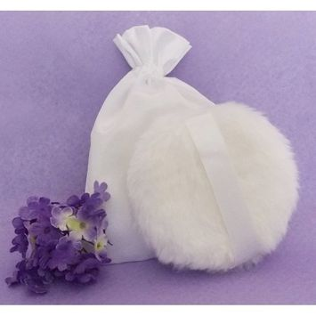 Powder puffs with strap Set of 3