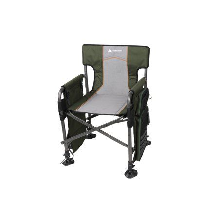 Ozark Trail Fishing Director's Chair with Rod Holder, Green