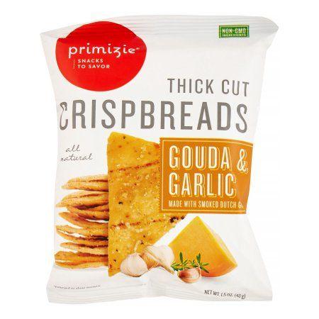 primizie® gouda & garlic thick cut crispbreads