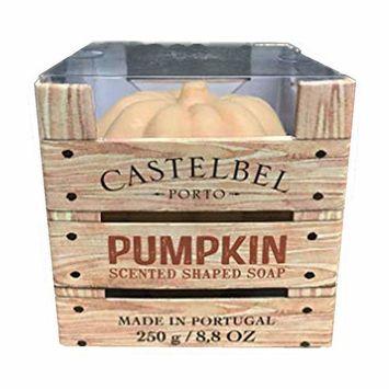 Castelbel Spa Sized Triple Milled Moisturising Soap 250g Soap Bar (Pumpkin Shaped)