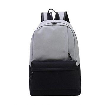 Lookatool Unisex Vintage Canvas Backpack Rucksack School Satchel Hiking Bag Bookbag