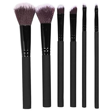 Mily Makeup Brushes Set 6PCS Professional Rubber Handle Cruelty Free Bristles Foundation Powder Blush Cosmetic Brushes