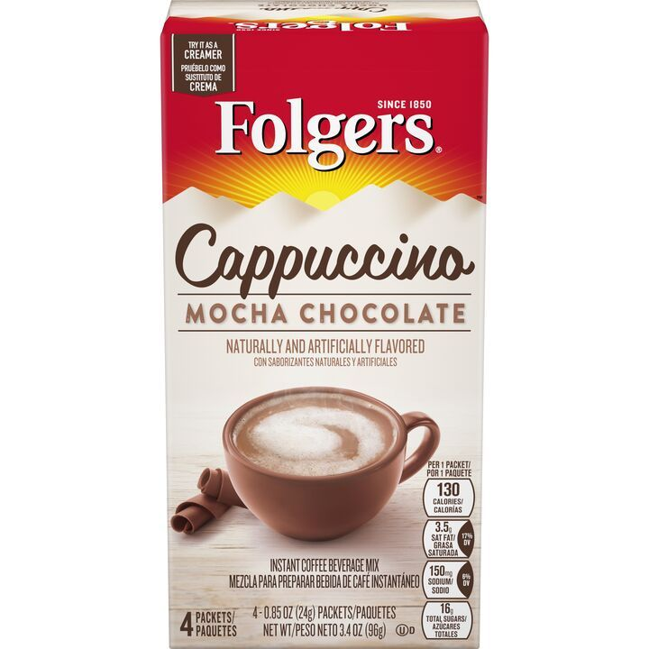 Folgers ® Mocha Chocolate Flavored Cappuccino Mix Packets