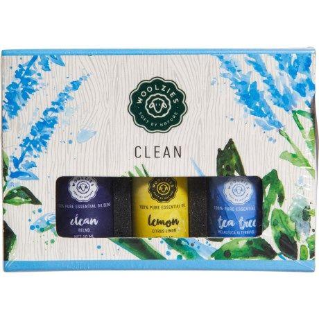 Woolzies Clean 100% Pure Essential Oils, 3 Pack, 10ml Each.