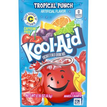 Kool-Aid Unsweetened Tropical Punch Powdered Drink Mix, Caffeine Free