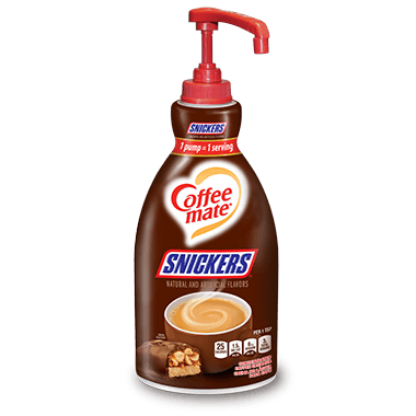 Nestle Coffee mate Snickers Liquid Coffee Creamer, Pump Bottles, 2x1.5L