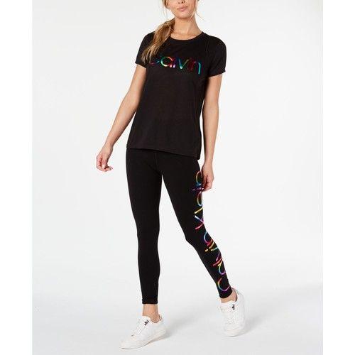 Rainbow-Logo T-Shirt & Leggings