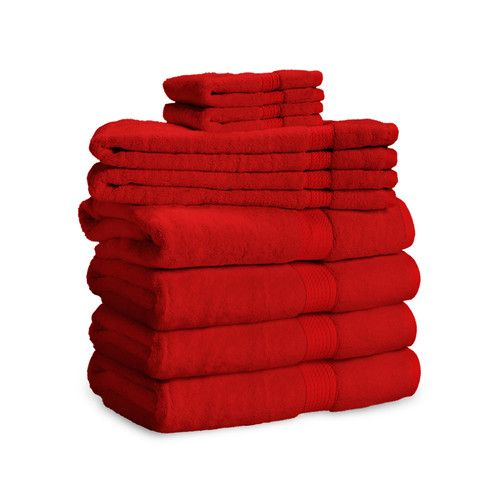 900 Gram 6-Piece Long Staple Cotton Towel Set - Heavy Weight & Absorbent by ExceptionalSheets
