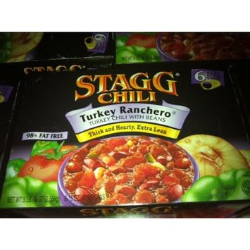 Stagg Chilli Turkey Ranchero, Turkey Chili with Beans (6 15oz Cans)