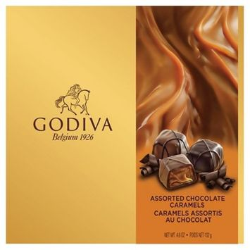Godiva Assorted Chocolate Caramels - 4.6oz