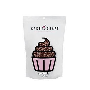 Cake Craft Sprinkles - Chocolate / Jimmies, 100 g [3.52 oz]