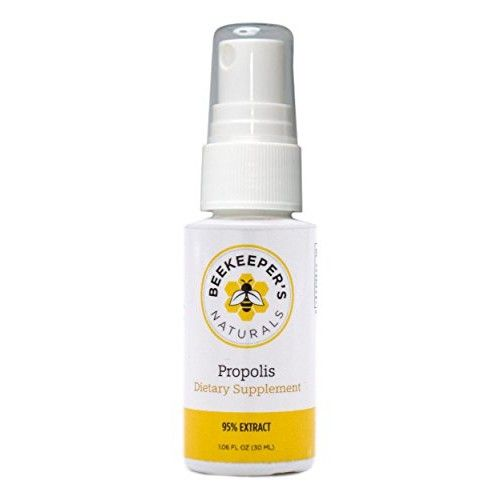 Bee Propolis Throat Spray by Beekeeper's Naturals   Premium 95% Bee Propolis Extract   Natural Throat Relief and Immune Support   Great for Cold & Flu Symptoms