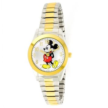 Disney - Women's MCK579 Mickey Mouse Two-Tone Expansion Band Watch