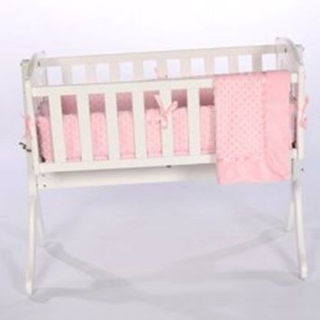 Babykidsbargains Heavenly Soft Cradle Bedding, Pink, 18