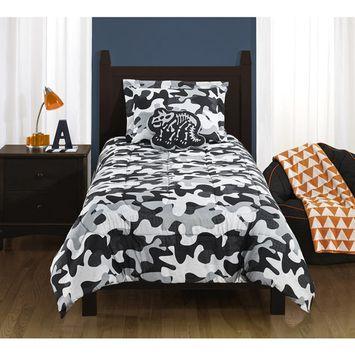 Mainstays Kids Camo Grey Bedding Comforter Set
