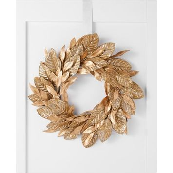 Midnight Blue Gold Leaf Wreath, Created for Macy's
