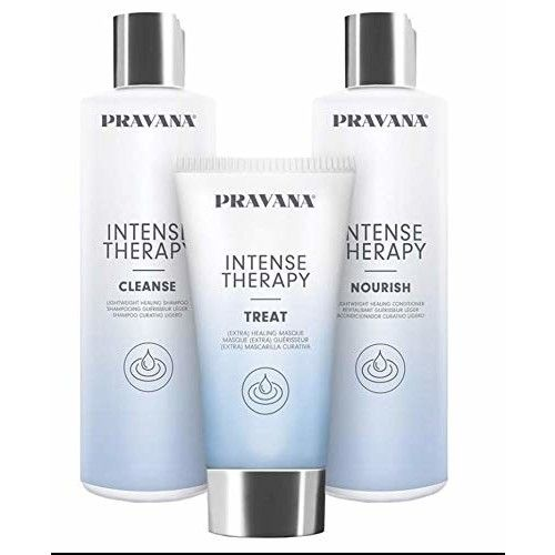 Pravana Intense Therapy Cleanse - Intense Therapy Nourish - Intense Therapy Treat Shampoo, Conditioner, and Mask set - Total 3 items