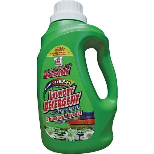 LA's Totally Awesome 232 Laundry Detergent With Stain Lifter, 64 oz, Rain Fresh, Liquid