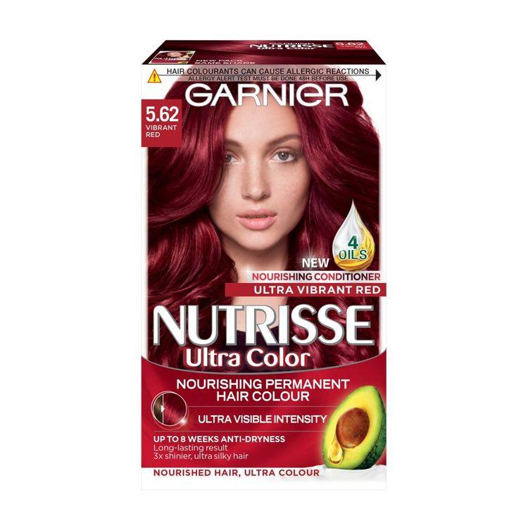 Garnier Nutrisse Ultra Colour Permanent Nourishing Hair Colour 5.62 Vibrant Red.