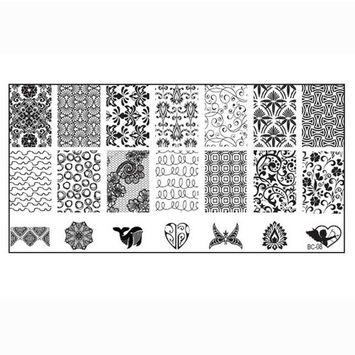 Kingfansion 10pcs Splendid Women Nail Art DIY Nail Image Plate Print Nail Art Template Stamp Stamping