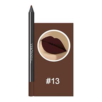 13 Colors Professional Lipliner Makeup Waterproof Matte Lip Liner Pencil