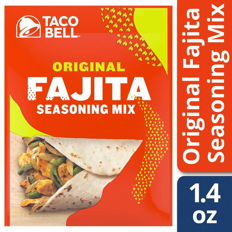 Taco Bell Original Fajita Seasoning Mix, 1.4 oz Envelope