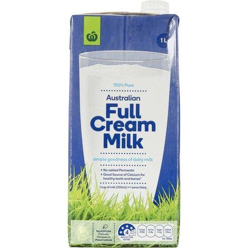 Woolworths Uht Full Cream Milk 1l